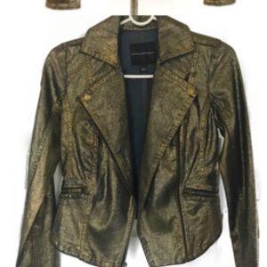 Metallic Rock & Republic Moto Jacket